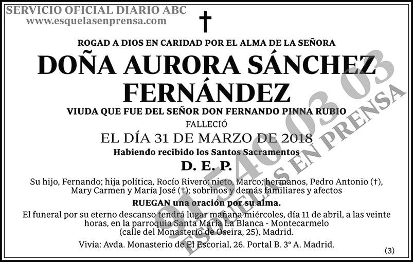 Aurora Sánchez Fernández